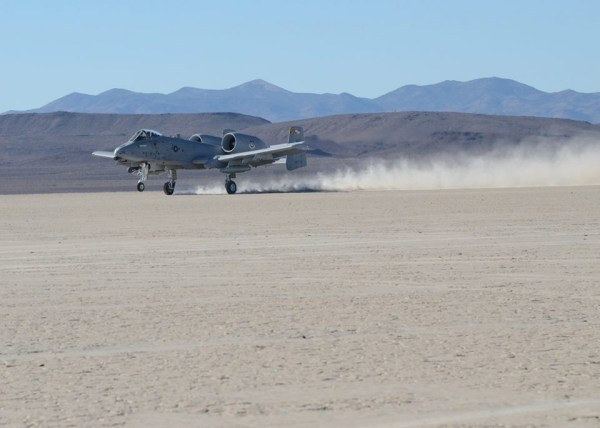 A-10-landing-on-sand