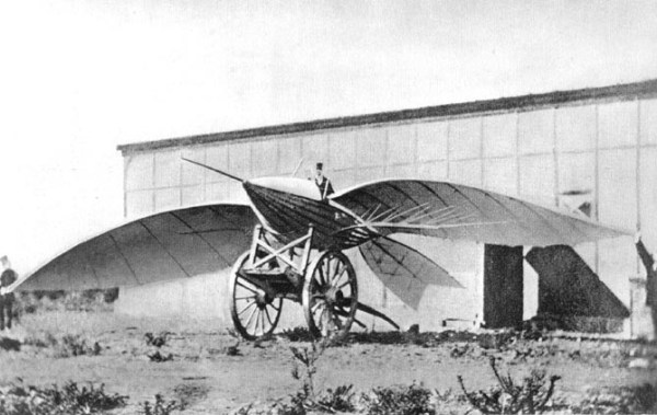 Jean-Marie Le Bris and his flying machine, Albatros II, 1868