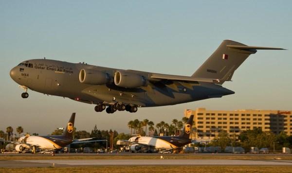 Com o recente pedido, a frota de C-17 do Catar vai chegar a 8 unidades.