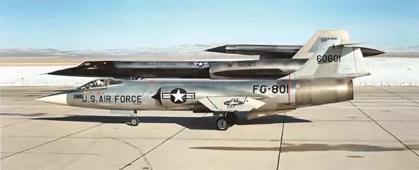 Conjunto M-21 - D-21, em 22 de dezembro de 1964, momentos antes da decolagem para o voo inaugural - Lockheed Martin