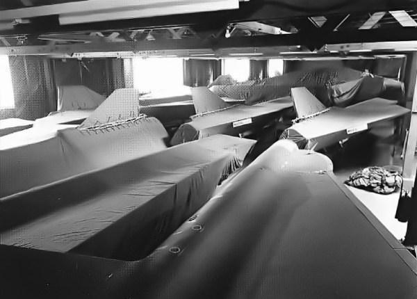 D-21 armazenados na Base Aérea de Norton, na Califórnia – Lockheed Martin