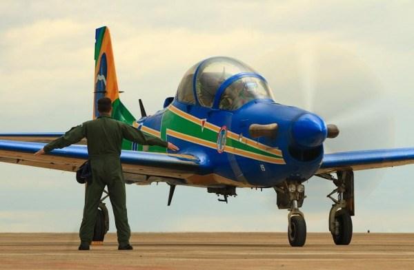 As aeronaves Super Tucano chegaram em Maringá na manhã do sábado, dia 11. (Foto: Sgt. Batista / Agência Força Aérea)
