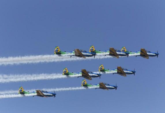 No período do treinamento foram realizadas 765 missões de perfil acrobático dedicadas exclusivamente ao programa. (Foto: Ten. Enilton / Agência Força Aérea)