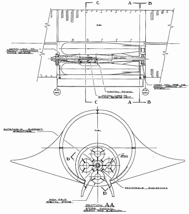 Desenho esquemático do Bombardeiro FB-12-4 Blackbird – Lockheed Martin (2)