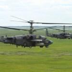 RÚSSIA: Esquadrões de helicópteros da VKS realizam treinamento de combate aéreo
