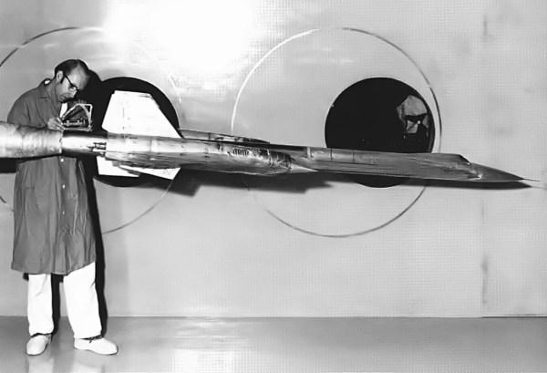 Modelo para testes em túnel de vento do Lockheed AF-12 (YF-12A) – NASA Ames Research Center