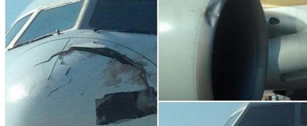 singapore airlines boeing 777 200 bird strike 600x247 - Boeing 777 da Singapore Airlines colidiu com pássaros