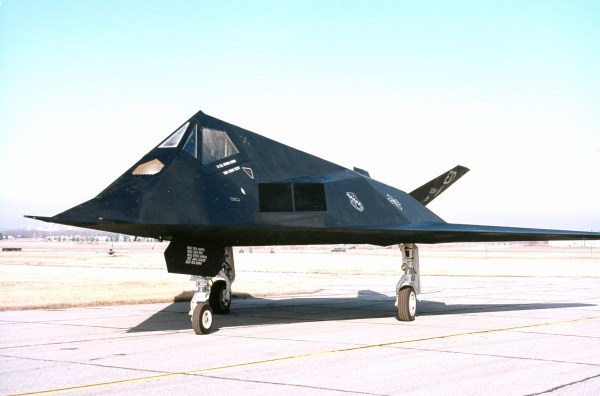 DAYTON, Ohio -- Lockheed F-117A Nighthawk at the National Museum of the United States Air Force. (U.S. Air Force photo)