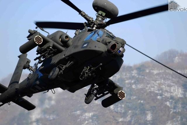 Boeing AH-64D Apache, em caráter ilustrativo
