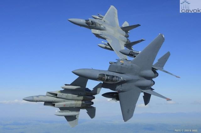 McDonnell Douglas F-15C Eagle & F-15E Strike Eagle, Foto - John Dibbs