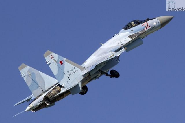 Su-35S - VKS, Red 32, by Sergey Chaikovskiy