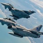 Typhoons britânicos interceptam bombardeiros estratégicos Tu-160 russos próximo à costa do Reino Unido