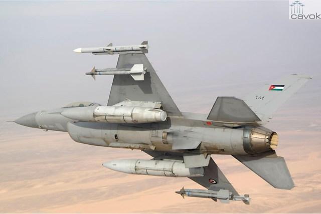 F 16AM Jordânia 2 - Caças F-16 israelenses e jordanianos confrontaram aeronaves russas ao longo da fronteira síria