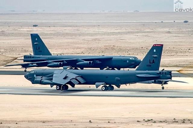 Boeing B 52H Stratofortress Base Aérea Al Udeid Qatar - Bombardeiros B-52H já estão no Qatar para ofensiva contra o Estado Islâmico