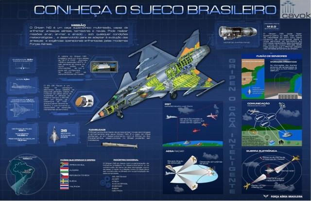 Infográfico F 39 Gripen FAB - Futuro caça da Força Aérea Brasileira, Gripen NG é apresentado hoje (18) na Suécia