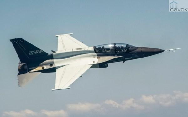 O primeiro T-50A da Lockheed Martin, realizou o primeiro voo no dia 2 de junho. (Foto: Lockheed Martin)