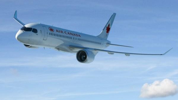 A Air Canada confirmou um pedido de 45 aeronaves CS300, com opção para adicionais 30 unidades. (Foto: Bombardier)