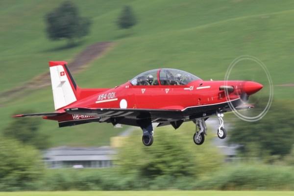 O Pilatus PC-21 A54- decola da pista da fabricante em no dia 20 de julho. (Foto: Pilatus Aircraft)