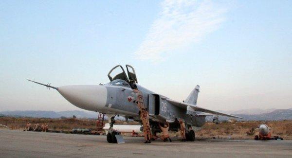 A Rússia vem operando com seus jatos de combate Su-24M2 a partir da Base de