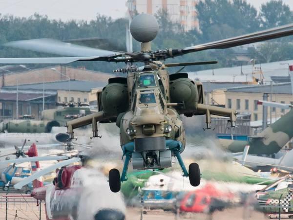 O modernizado helicóptero de ataque Mi-28NM já estaria utilizando lâminas do rotor principal feitas com material composto.