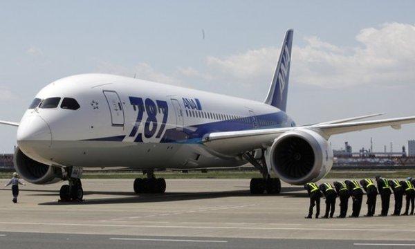 Um dos Boeing 787 Dreamliner da companhia aérea japonesa All Nippon Airways. (Foto: Shizuo Kambayashi/AP)