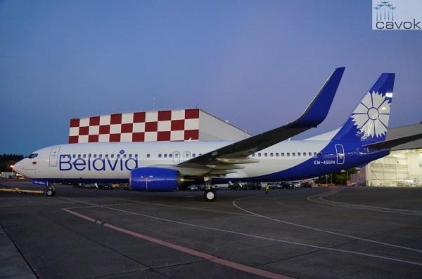 O primeiro Boeing 737-800 Next Generation da companhia aérea Belavia. (Foto: Boeing)