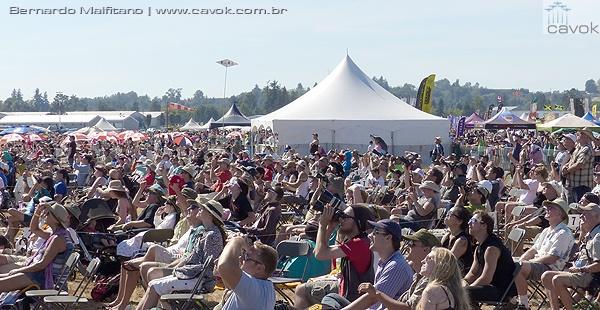 Uma multidão esteve presente em Abbotsford durante os três dias de show aéreo. (Foto: Bernardo Malfitano / Cavok)