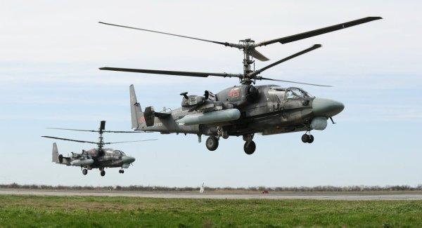 Pilotos egípcios estão recebendo treinamento de voo nos helicópteros Ka-52 na Rússia.