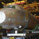 IMAGEM: Primeira fuselagem do Embraer E195-E2 para testes de fadiga