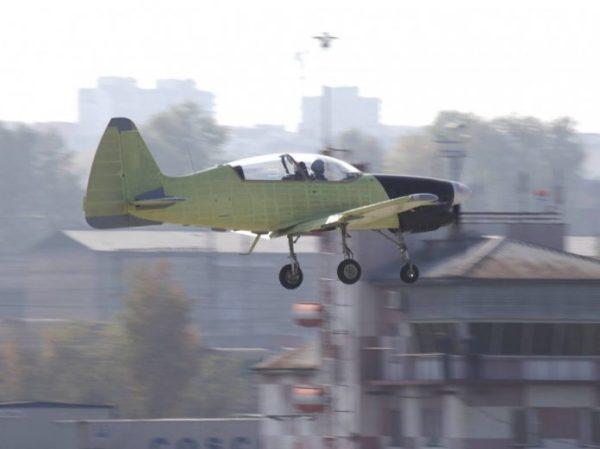 O treinadore básico Yak-152 realizou seu primeiro voo a partir da unidade da Irkut em Irkutsk. (Foto: UAC)