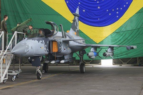 A FAB vai destacar o novo caça Gripen NG na mostra BID em Brasília. (Foto: FAB)