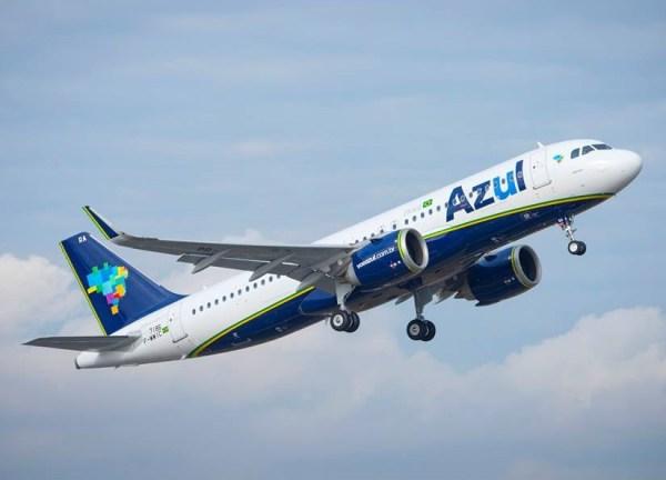 O primeiro Airbus A320neo decolou hoje de Toulouse, na França. (Foto: A. Doumenjou Airbus)