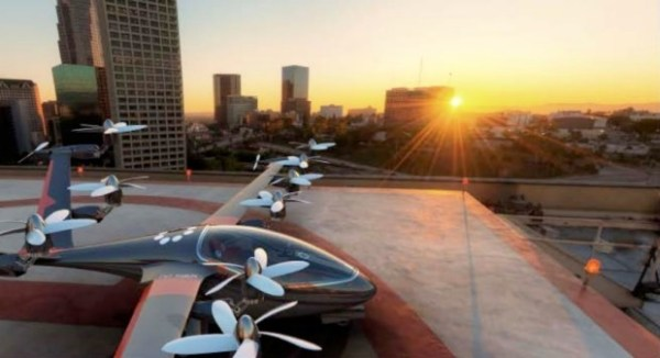 O Uber divulgou um recente estudo que mostra como pensa no futuro do transporte urbano pelo céu. (Foto: Uber)