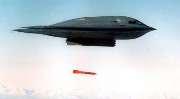 Uma imagem de um lançamento realizado no começo dos testes da B61, no ínicio dessa década.