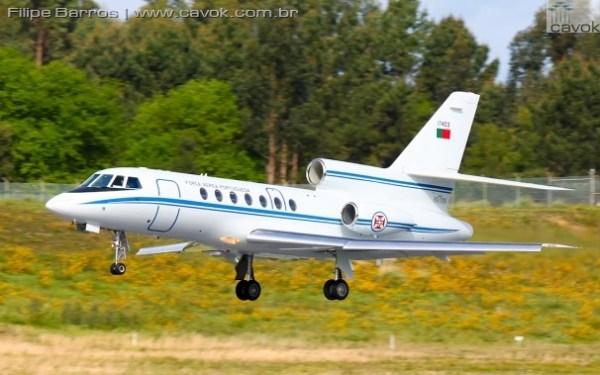 """Um Falcon 50 da Esquadra 504 """"Linces"""". (Foto: Filipe Barros / Cavok)"""