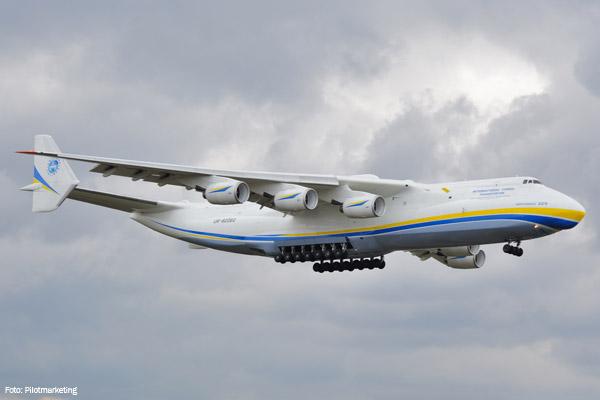 Dia 14 de novembro o An-225 Myria volta a pousar no Aeroporto Internacional de Guarulhos, em São Paulo. (Foto: PilotMarketing)