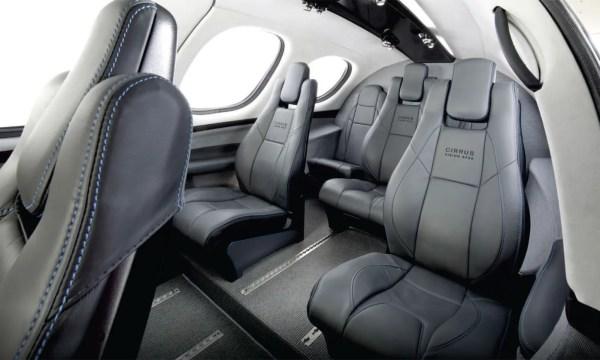 O interior do Cirrus Vision Jet. (Foto: Cirrus Aircraft)