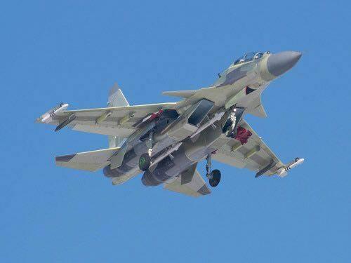 Su-30MKA durante seu primeiro novo voo.