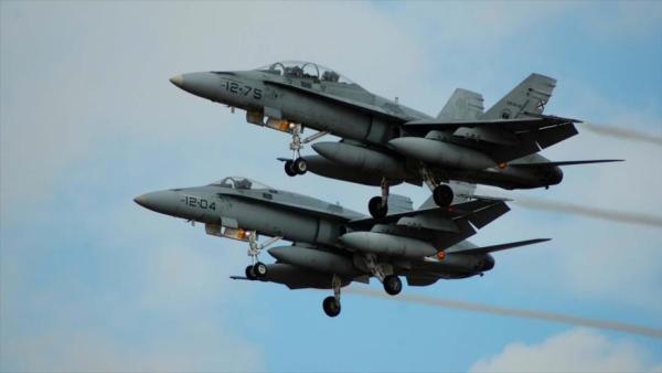 Caças F-18 da Força Aérea da Espanha foram acionados para acompanhar um voo de um jato Su-35 russo próximo ao território espanhol.