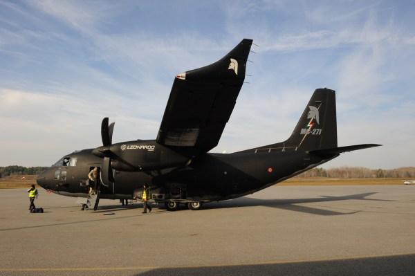 Uma aeronave de demonstração C-27J Spartan totalmente missionada para a competição FWSAR foi apresentada essa semana no Canadá. (Foto: Team Spartan)