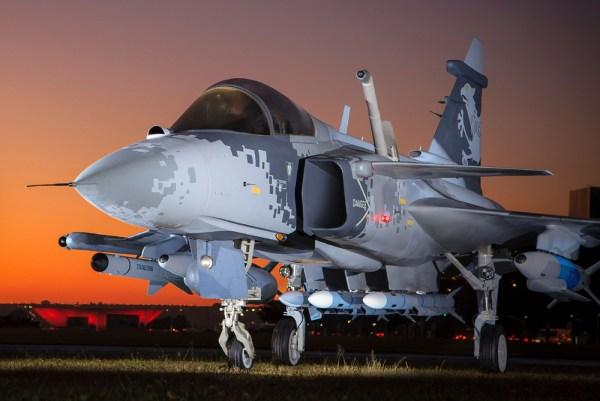 Mockup do Gripen NG. (Foto: Agência Força Aérea)