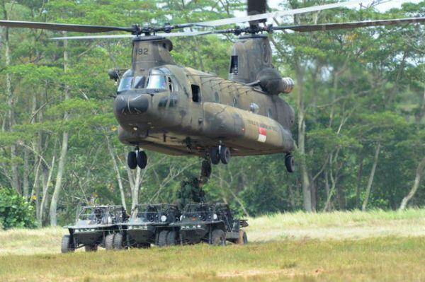 Atual CH-47SD da RSAF.