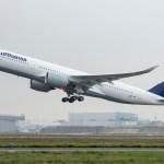 Lufthansa recebe sua primeira aeronave Airbus A350