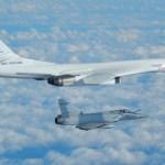 IMAGENS: Bombardeiros russos Tu-160 são interceptados por caças franceses