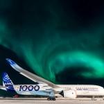 IMAGEM: Airbus A350-1000 é testado em condições de frio intenso com cenário da Aurora Boreal