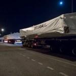 Novo BelugaXL segue em peças por estradas da França