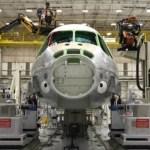 Imagem do primeiro KC-390 destinado para FAB, avião que poderá ter uma versão civil