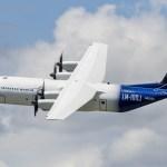 Voa o primeiro avião de transporte civil LM-100J da Lockheed Martin