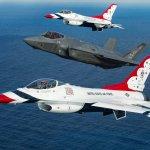 Quem vai substituir o F-16 dos Thunderbirds?