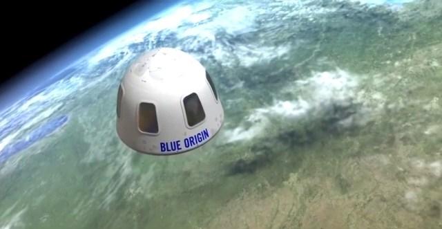 blue origin cápsula - AIRVENTURE: Foguete histórico da Blue Origin estará exposto em Oshkosh